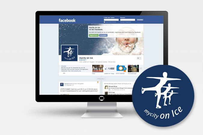 Facebook-Kampagne für mycity on ice